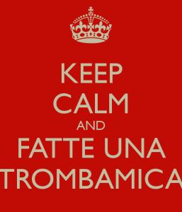 keep calm e trova una trombamica